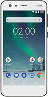 "Nokia 2 - Android 7.0 Nougat - 8GB - Dual SIM Unlocked Smartphone (AT&T/T-Mobile/MetroPCS/Cricket/Mint) - 5"" Screen - White - U.S. Warranty"