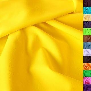 Modestoff/Dekostoff universal Stoff ALLROUND knitterarm - Meterware am Stück Gelb