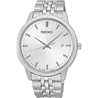 Seiko Men's Analog Quartz Silver Tone Stainless Steel Watch + $5 GC
