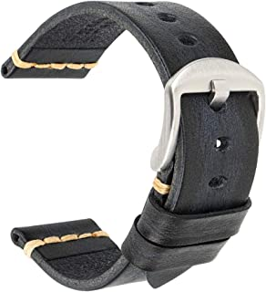 Leather Watch Band, MAIKES Handmade Genuine Leather Watch Strap-Choice of Width-18mm 19mm 20mm 22mm 23mm 24mm 26mm Smart W...