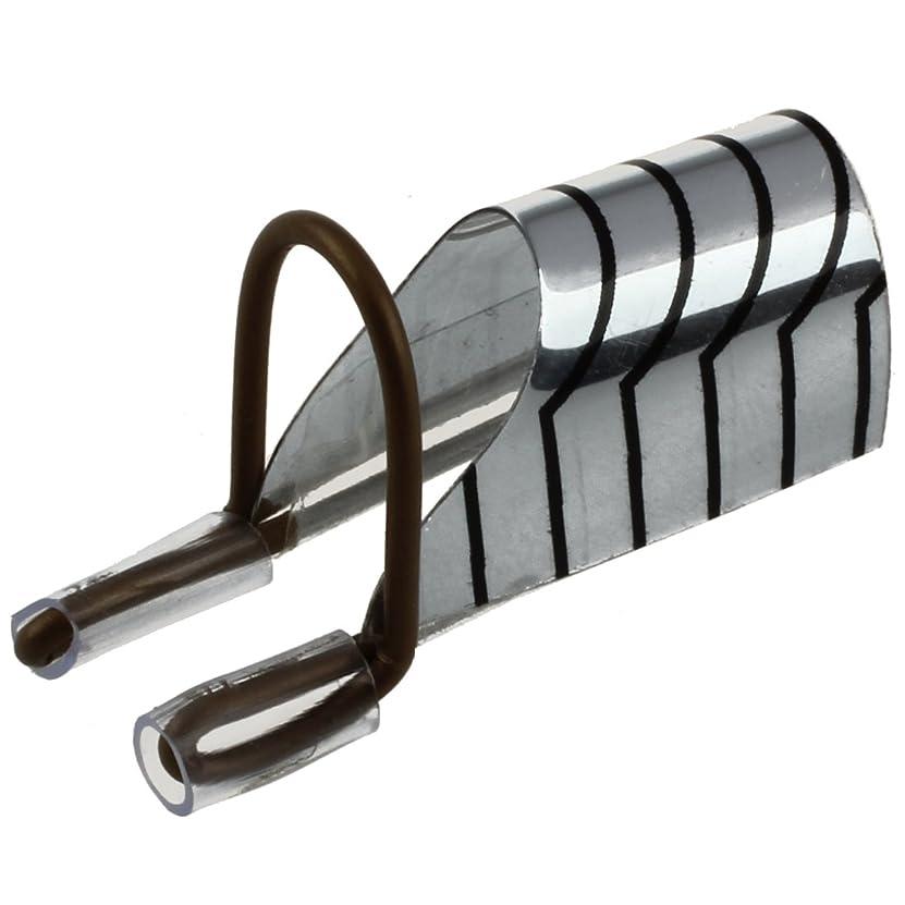 排泄する切り下げ不変SODIAL(R) 5個再利用可能なネイルアートフォームのUVジェルフレンチアクリルヒントプロテクターツール銀箔W/ ボックス