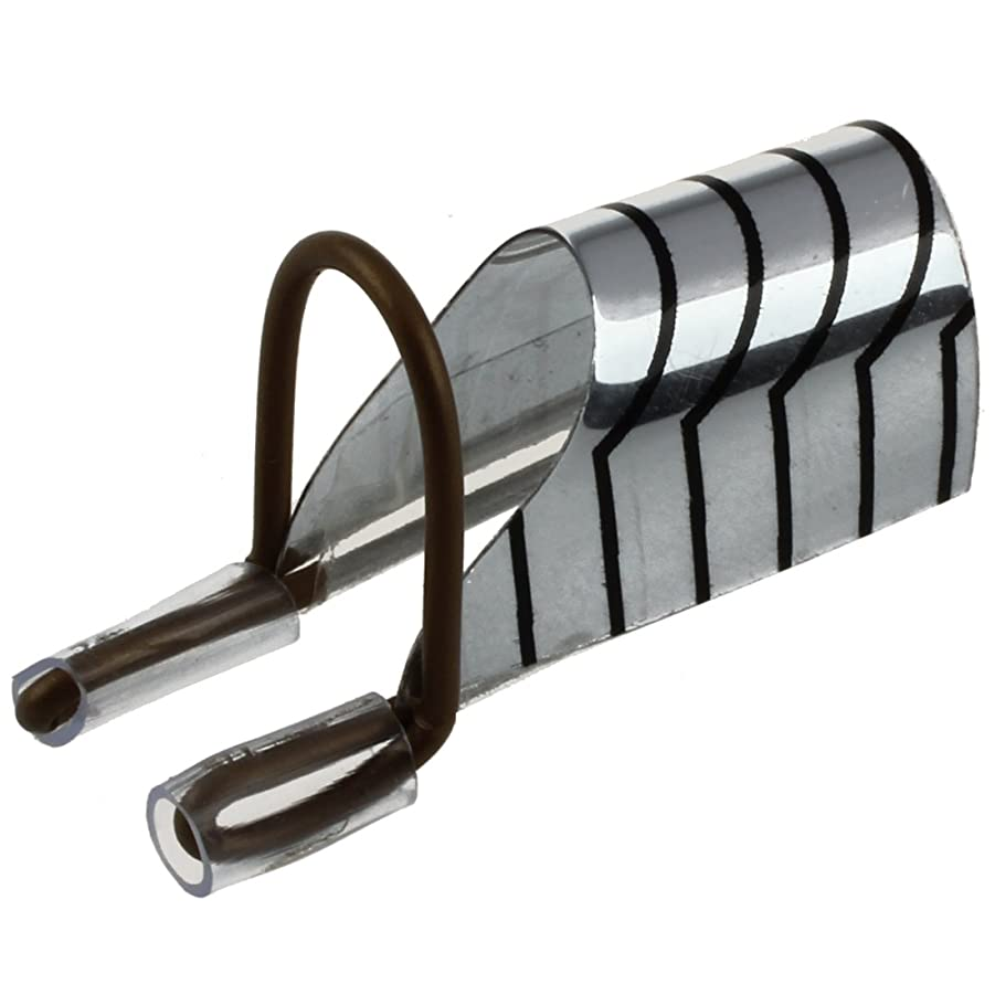 扇動忠実に大学生Cikuso Cikuso(R) 5個再利用可能なネイルアートフォームのUVジェルフレンチアクリルヒントプロテクターツール銀箔W/ ボックス