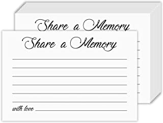 """Funeral Card - Share A Memory Funeral Cards – Great for Birthday, Anniversary, Bridal Shower and Graduation Celebration and Memorial and Funeral 
