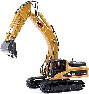 duturpo 1/50 Scale Diecast Crawler Excavator, Metal Construction Vehicle Models Toys for Kids (Crawler Excavator)