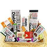 Diablo Diabetic 0 Sugar Hamper Box Sweets Gummy Cookies Bar Bars Present Snack Sweet Basket Suitable for All Occasions Fathers Mothers Day Birthday Christmas Hamper
