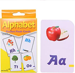 Alphabet Flash Cards - Ages 3 and Up, Preschool, Letter-Picture Recognition, Word-Picture Recognition, Alphabet, and More ...