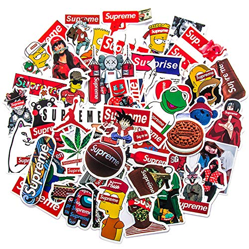 YCYY 50 New Personality Cartoon Tide Brand Graffiti Stickers Skateboard Mobile Phone Suitcase Waterproof Without Glue Can Be Moved Stickers