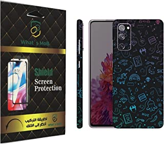 For SAMSUNG Galaxy S20 FE back full skin Doodle 01 soft felling Hd print by whats mob (Not Cover)