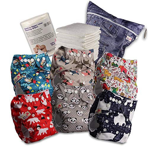 Littles /& Bloomz Pa/ñales reutilizables microfibra Talla:pack de 20