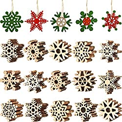 Wooden Snowflake Ornaments for Crafts