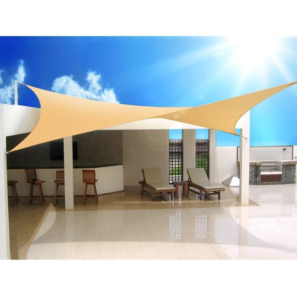 Green Blue - Toldo para jardín Vela de Sombra Cuadrado o Triangular Impermeable Diferentes Medidas (Cuadrado, 5,0): Amazon.es: Hogar