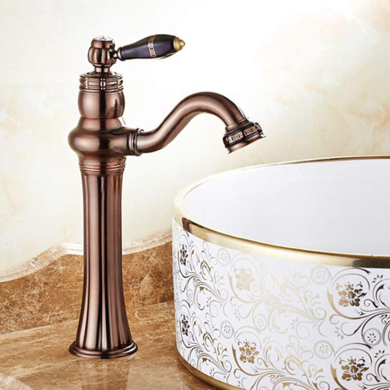 Waschtischarmatur Deck Montiert Messing Becken Wasserhahn Bad Wasserhahn Vanity Sink Mischbatterie l Eingerieben Bronze