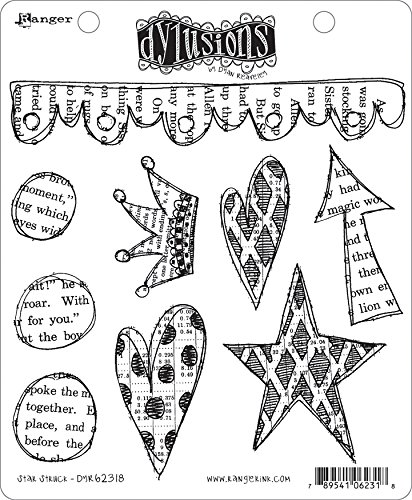 Ranger Dyan Reaveley's Dylusions Cling Stamp Collections 8.5'X7' Star Struck, Multi
