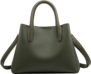 SDINAZ Bolsos de mano Mujer Bolsos bandolera Moda Bolsos totes Shoppers y bolsos de hombro ES55 Verde oscuro