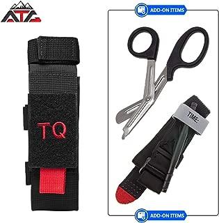 atg Tactical Tourniquet & Trauma Medical Shear Pouch MOLLE PALS Duty Belt Loop EMT EMS PVC Rubber Patch