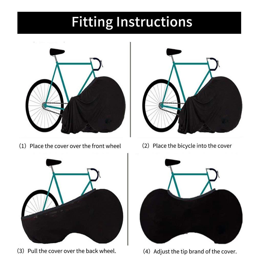 LPGER Cubierta De Almacenamiento Interior para Bicicletas: La Mejor Solución para Mantener Los Pisos Y Las Paredes SIN Directo: Se Adapta Al 99% De Todas Las ...