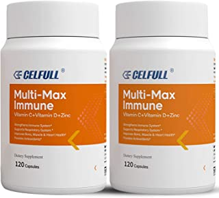 Multi-Max Immune Support Supplement 4 Month Supply with Zinc, Vitamin C + D with Multivitamins E B Complex and Minerals Ca...