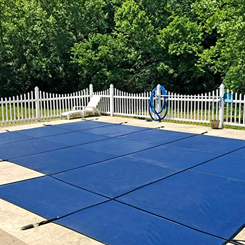 WaterWarden Inground Pool Safety Cover, Fits 20' x 40', Blue Mesh, Right Step – Easy Installation, Triple Stitched for Max Strength, Includes All Needed Hardware, SCMB2040RS