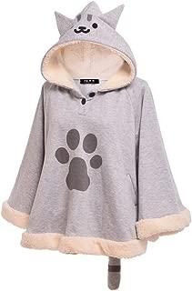 GRACEART Cute Cat Cloak Lolita Girl Hoodie Coat Warm Cape