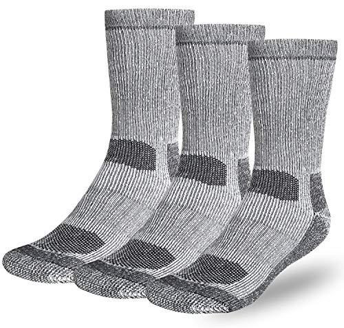 Buttons & Pleats Wool Socks for Men Women 80% Merino Thermal Warm Cozy Winter Fuzzy Boot Sock Charcoal ML