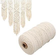 Tokenhigh Originele Kleur Katoenen String-Macrame Koord Katoen Natuurlijke Beige Twisted Koord Touw Craft Macrame String D...