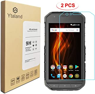 [2 Pack] Ytaland for CAT S31 Screen Protector, Tempered Glass Anti-Fingerprints Thin 9H Hardness Screen Protector for CAT S31