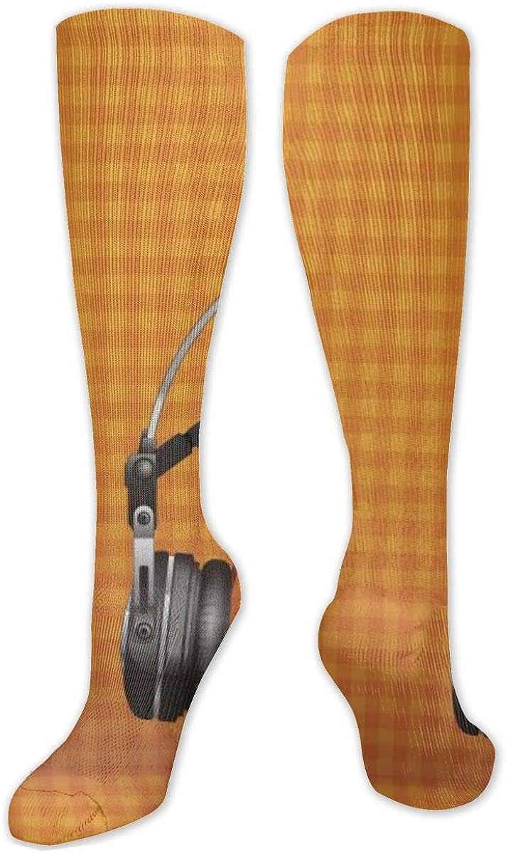 Halloween Pumpkin Music Knee High Socks Leg Warmer Dresses Long Boot Stockings For Womens Cosplay Daily Wear