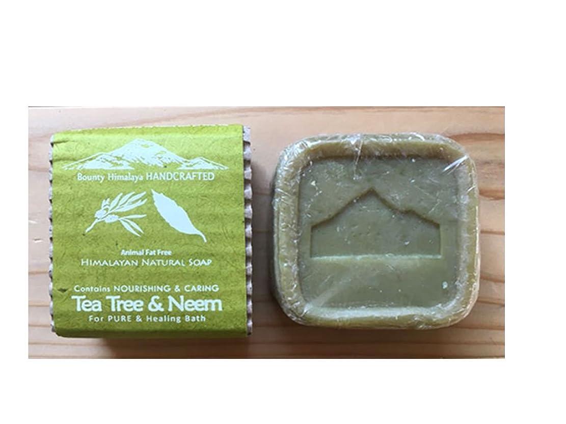 権限基礎ほのかアーユルヴェーダ ヒマラヤ ティーツリー?ニーム ソープ Bounty Himalaya Tea Tree & Neem SOAP(NEPAL AYURVEDA) 100g