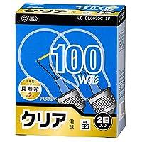 OHM 白熱電球 95W クリア 2個入 LB-DL6695C-2P 06-0561