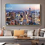 KWzEQ Imprimir en Lienzo Hermoso Paisaje de la Ciudad de Nueva York Sala de Estar HD Imprimir Lienzo Pintura al óleo Decoración para el hogar50x75cmPintura sin Marco