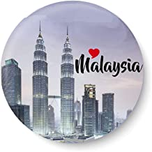 PEACOCKRIDE Love Malaysia I Malaysia Diaries I I Souvenir l Travel I Fridge Magnet (Metal, Multicolour, 75mm)