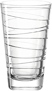 Leonardo Vario Struttura Trink-Gläser, 6er Set, spülmaschinengeeignete Wasser-Gläser, Glas-Becher mit Muster, Saftglas Getränke-Set,280 ml, 019450
