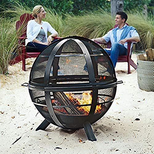 Regal Flame Globe Ball Backyard Garden Home Light Wood Fire Pit