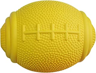 PlayfulSpirit Tricky Treat Rugby Ball: Dog Treat Dispenser - Awesome Anxiety Reliever and Boredom Breaker, Fun Fetch and Basic Puppy Training Toy