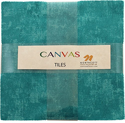 Canvas Stone Tiles 42 10-inch Squares Layer Cake Northcott