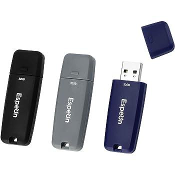 Espeon Pack de 3 Unidades, 32 GB Memoria USB 2.0 Flash Drive ...