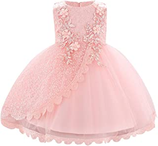 Lace Flower Girls Sequins Bow Tutu Dress for Infant Baby Christening Baptism Communion Birthday Party Wedding Dresses