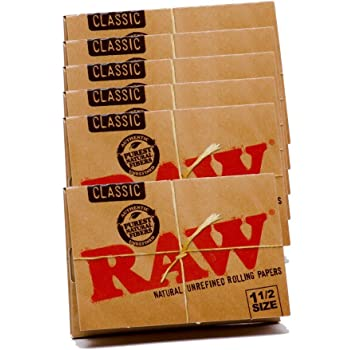 Raw Classic 1 1//2 Rolling Papers Lot of 17-33 Leave Per Pack 561 Total Papers