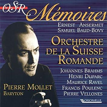 Brahms: 4 Ernste Gesänge - Duparc: 3 Mélodies - Ravel: Don Quichotte à Dulcinée - 5 Mélodies Populaires Grecques - Poulenc: 6 Chansons Villageoises - Vellones: 5 Epitaphes (Live)