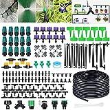 Garden Irrigation System, 132ft/40m 163PCS Micro Drip Irrigation Kit (30pcs...