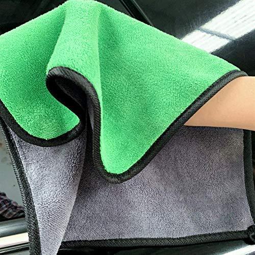 Nanke handdoeken voor auto, handdoeken, velours, dik, kleur koraalrood, dubbelzijdig, veelzijdig, absorberend 30 * 60 Couleur aléatoire