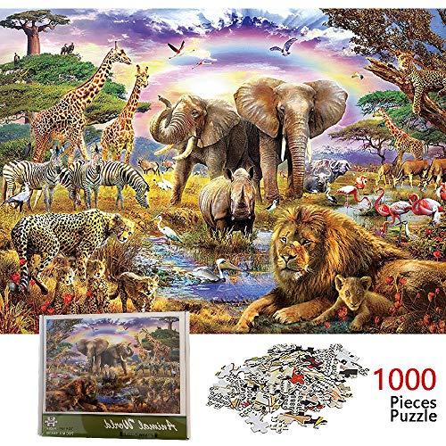 Puzzle de 1000 Piezas para Adultos, Mundo Animal, Ilustraciones de Juegos de Rompecabezas para Adultos, Adolescentes, 1000 Piece Jigsaw Puzzles Infantiles Puzzle Adultos 70 x 50 cm (Mundo Animal)
