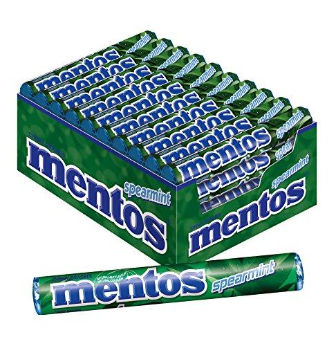 Mentos Spearmint Dragees, 40 Rollen Bonbons, Geschmack Minze, Multipack für frischen Atem