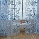 Ardorlove Flower Curtain Door Window Balcony Print Tulle Voile Sheer Curtain Panel