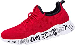 Mesh Running Shoes for Men, Huazi2 Solid Cross Tied Anti Skidding Ventilation Non Slip Climbing Sneakers