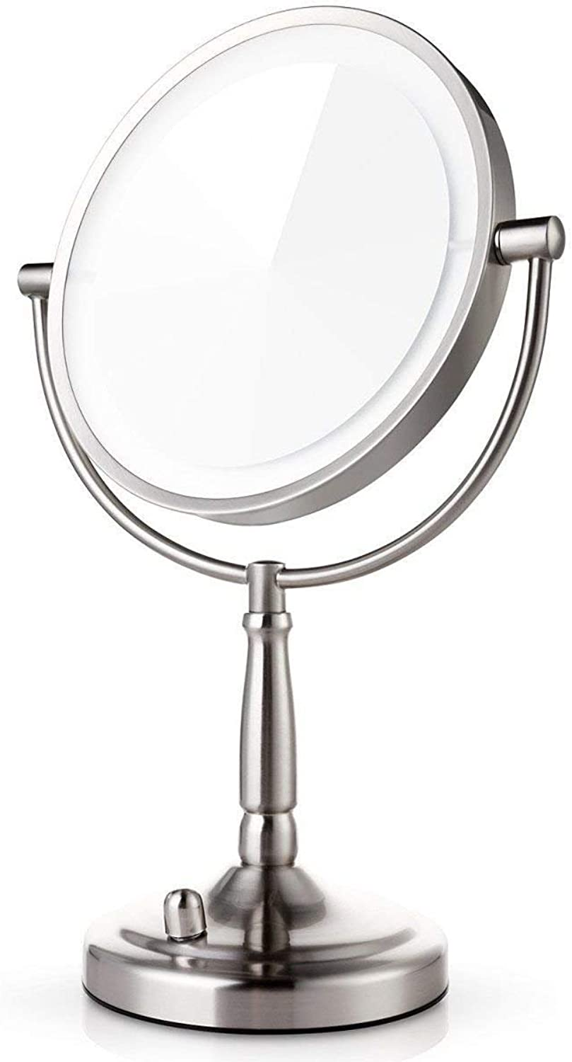 Magnifying Mirror,Stand Mounted Around The Money redating The Mirror of The Vanity of Bathroom 2-Sided