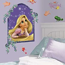 RoomMates Princess Rapunzel Peel and Stick Giant Wall Decals,Multicolor