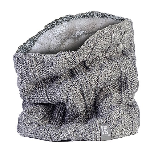 Heat Holders - Donna termico invernale in pile scaldacollo - 3.5 tog - Taglia Unica, Light Grey, taglia unica