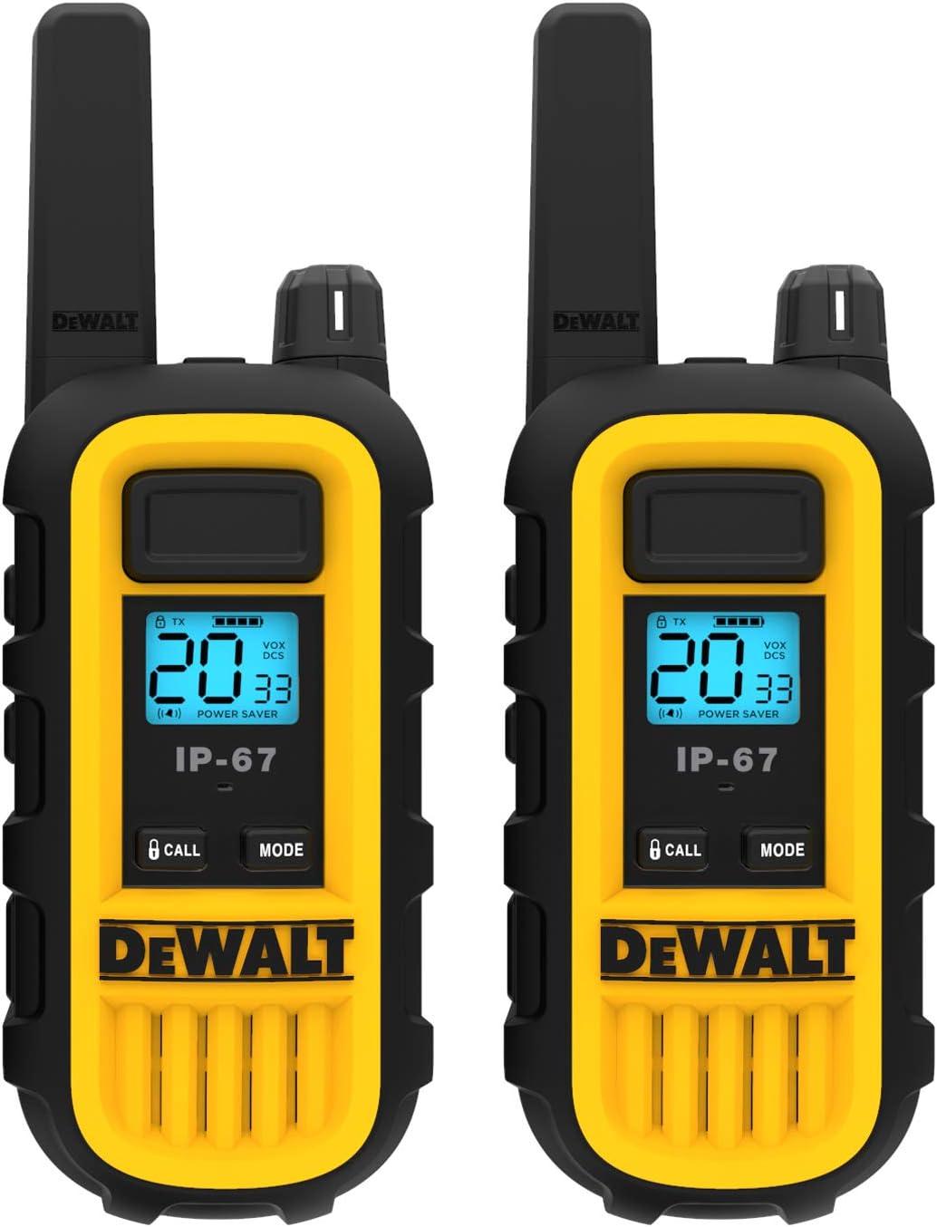 DEWALT DXFRS300 Selling and selling 1 Watt Heavy Duty famous Waterproof Talkies S - Walkie