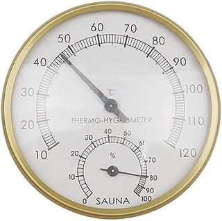 Tamkyo Sauna thermomètre et hygromètre température humidité mètre Sauna hammam Salle de Bain Accessoires
